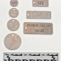 .048 inch stock stainless steel tags
