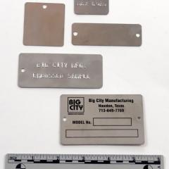 stock stainless steel tags