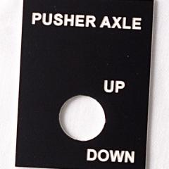Pusher Axle Up Down Plastic Tag