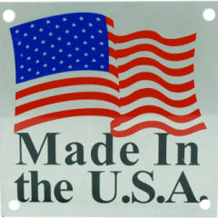 Made in USA Marked Metal Tag