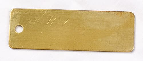 brass rectangular tag