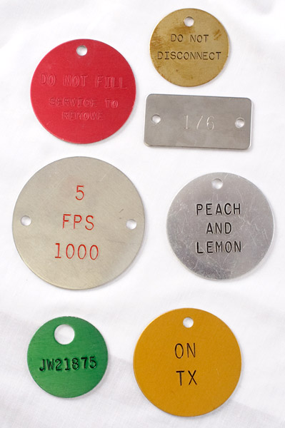 engraved metal tags with punched hole